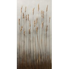 Evening Wheat by Braski Painting Print on Canvas
