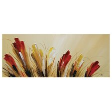 Modern Tulips by Nathalie Viens Painting Print on Canvas