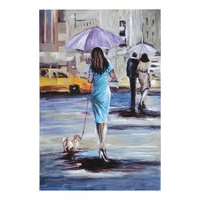 <strong>Ren-Wil</strong> Walking in the Rain II Canvas Wall Art