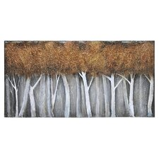 Bronze Birch Canvas Wall Art
