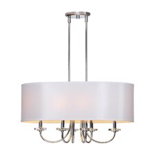 Lux Fixture 6 Light Drum Pendant