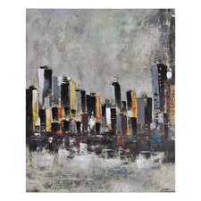 Metro Heights by Elias Munoz Painting Print on Canvas