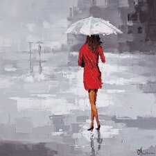 Red Rain by Olivia Salazar Painting Print on Canvas
