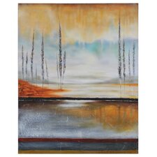 Earth in Fall by Stephane Fontaine Painting Print on Canvas