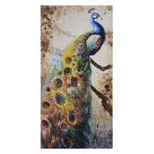 Peafowl Canvas by Olivia Salazar Painting Print on Canvas