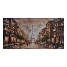 Summer Evening in Paris by Olivia Salazar Painting Print on Canvas