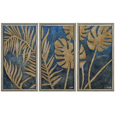 Foliage in Gold Wall Art (Set of 3)