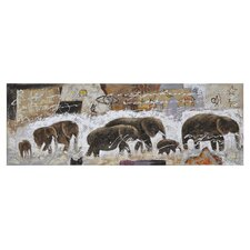 Herd by Kelly Graphic Art on Canvas