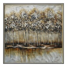 Metallic Forest by Giovanni Russo Framed Painting Print