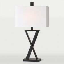 "Chi 29"" H Table Lamp with Rectangular Shade"