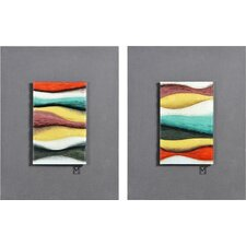 2 Piece Rainbow Rhodes Wall Décor Set
