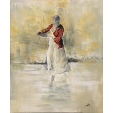 Wading by C. Viens Original Painting on Canvas