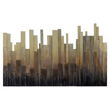 Urban Metropolis by Charlene Lynch Painting Print Plaque