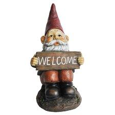 Resin-Stone Midi Welcome Gnome