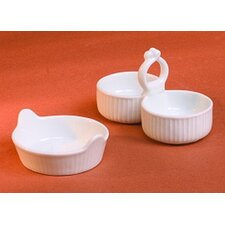 Pleated Salt & Pepper Cellar