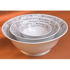 "<strong>Pillivuyt</strong> Brasserie Footed 9.75"" Salad Bowl"