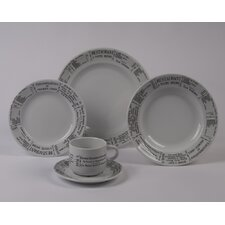 Brasserie 5 PC Dinnerware Set with Rimmed Bowl