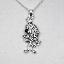 Lion White Bronze Pendant