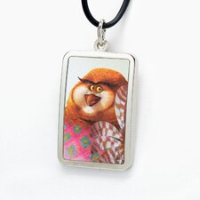 Wiser White Bronze Dog Tag Pendant Necklace