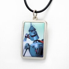 Tin Man White Bronze Dog Tag Pendant Necklace