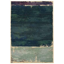 Expressions Abstract Green Area Rug I