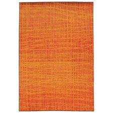 Expressions Orange Abstract Area Rug
