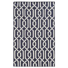 Matrix Black Geometric Rug