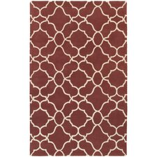 Optic Geometric Rust & Ivory Area Rug