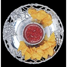"Grape Round 14"" Chip and Dip Tray"