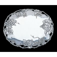 "<strong>Arthur Court Designs</strong> Grape 14.5"" Oval Platter"
