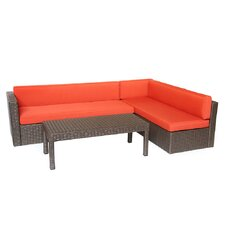 Conversation 3 Piece Sectional Seating Group with Cushions