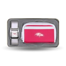 NFL Women's Watch and Wallet Set