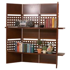 "58.7"" Cebu 4 Panel Shelf Room Divider"