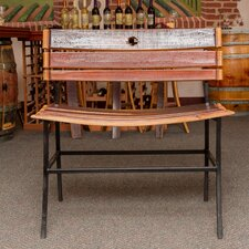 Wine Barrel Bench
