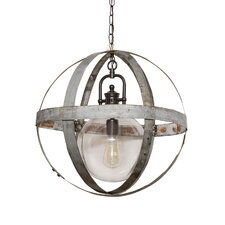 <strong>Napa East Collection</strong> Wine Hoop 6 Light Globe Chandelier