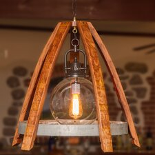 Reverse Wine Stave 1 Light Globe Chandelier