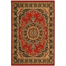 Paterson Dark Red Medallion Rug