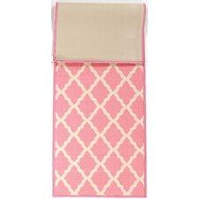 Pink Contemporary Moroccan Trellis Area Rug