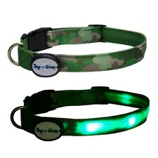 Camouflage Led Collar Green