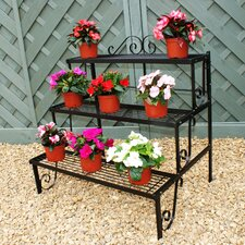 Three Tier Pot Stand in Black