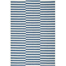 River Reed Stripe Ink Rug