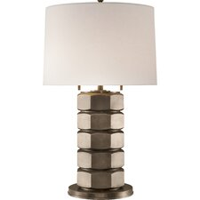 "Niles 35.5"" H Table Lamp with Drum Shade"