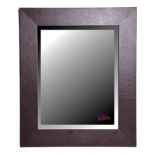 Jovie JaneWide Brown Leather Wall Mirror
