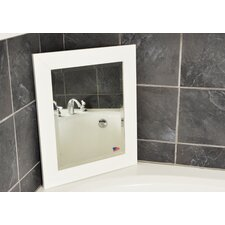 White Satin Wide Wall Mirror