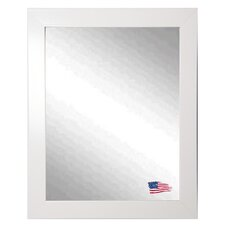 Ava Polished White Wall Mirror