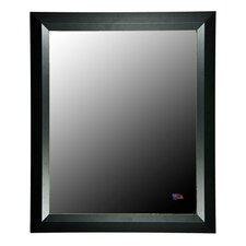 Ava Contemporary Matte Black Wall Mirror