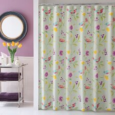 Singing Birds Cotton Shower Curtain