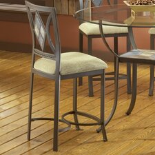 "<strong>Bernards</strong> Diamond Tile 24"" Bar Stool with Cushion"