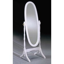 <strong>Bernards</strong> Cheval Mirror in White
