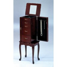 Small Jewelry Armoire in Cherry